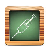 Blackboard syringe — Vector de stock