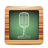 Blackboard microphone — Vector de stock