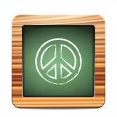 Blackboard peace — Vector de stock