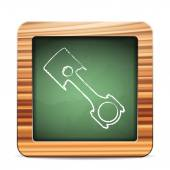 Blackboard piston — Stock Vector
