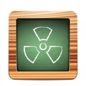 Blackboard radiation — Vector de stock