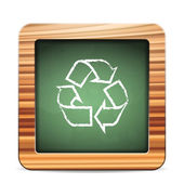 Blackboard recycle — Vector de stock