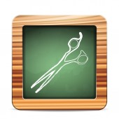 Blackboard scissors — Vector de stock