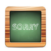 Blackboard sorry — Vector de stock