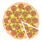 Pizza slice — Stock Vector