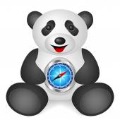 Panda compass — Stock Vector