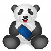 Panda mobile phone — Stock Vector