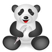 Panda medical thermometer — Vector de stock