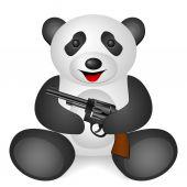Panda revolver — Stok Vektör
