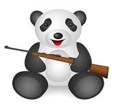 Panda rifle — Stock Vector