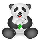 Panda syringe — Stock Vector