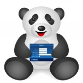 Panda register — Stock Vector