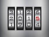 Combination lock 2015 — Vecteur