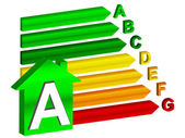 Efficienza energetica A — Vettoriale Stock