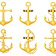 Anchor set — Stock Vector #62541571