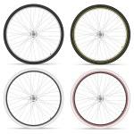 Bike wheels — Stock Vector #67420071