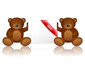 Bears 80 percentage off — Stockvektor