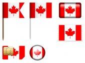 Canada flag set — Stock Vector