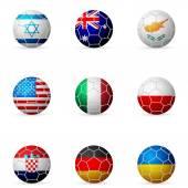Soccer ball flag — Wektor stockowy
