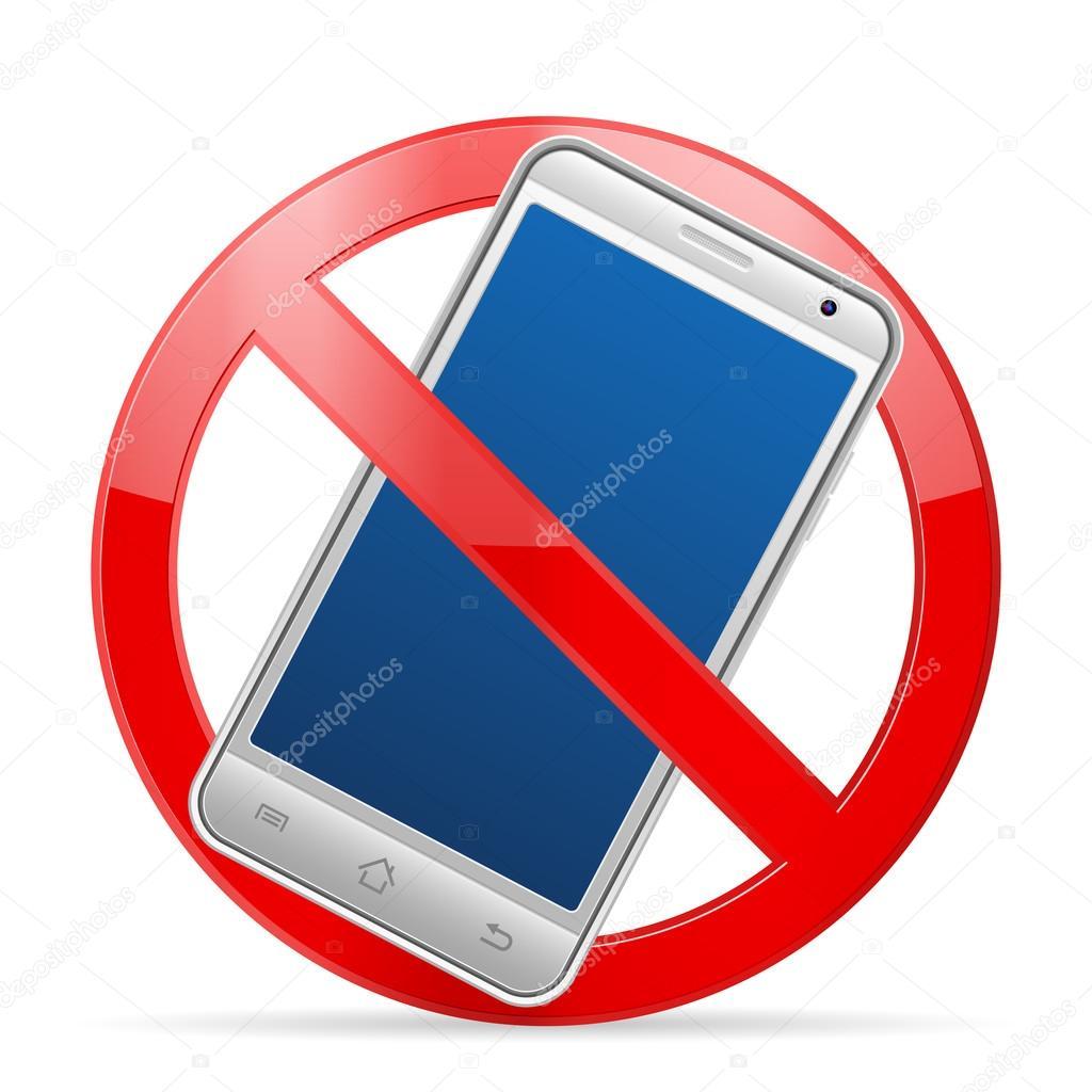 Telefono cellulare divieto vettoriali stock julydfg for Mobile telefono