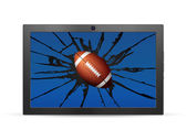 Cracked tablet american football — ストックベクタ
