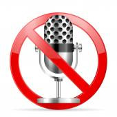 Prohibition microphone — Stock Vector