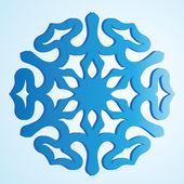 Il fiocco di neve blu isolato — Vettoriale Stock