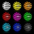 Colorful glossy spheres isolated. — Stock Photo #69010771
