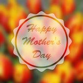 Glücklich Motherss Tag — Stockvektor