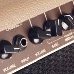 Guitar Amplifier Control Panel — Stock Photo #63821493