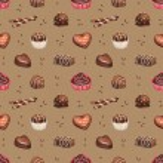 Chocolate candies seamless pattern — Stock Photo #59829057