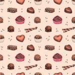 Chocolate candies seamless pattern — Stock Photo #59829195