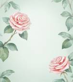 Watercolor illustration of rose flower. — Stock Photo