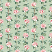 Watercolor pattern with roses — Stock Photo