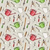 Trädgårdsredskap mönster — Stockfoto