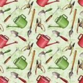 Garden tools pattern — Zdjęcie stockowe
