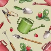 Garden tools  pattern — Stock Photo