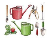 Garden tools illustration — Stock Photo