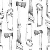 Yxan och sticksåg mönster — Stockfoto
