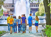 Group of people outdoor. — Stock Photo