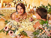Couple relax  at spa — Stock Photo