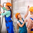 Group people in builder uniform. — Stock Photo #52884503