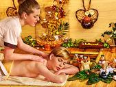 Woman getting relax massage — Stock Photo