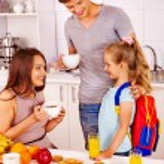 Preparing child for school — Stock Photo #54369419
