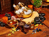 Ayurvedic spa massage — Stock Photo