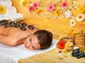 Stone therapy massage . — Stock Photo