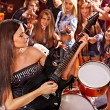 Band playing musical instrument. — Stock Photo #56058083