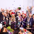 People at Xmas business party. — Zdjęcie stockowe #56059051
