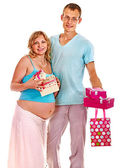 Pregnant woman with man. — Stock Photo