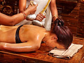 Woman having massage — Stock Photo